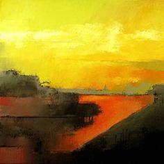 """Irma Cerese, Bremen Harbor acrylic on canvas 24""""x24"""""""