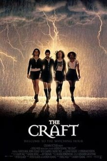 """Coven girls: The new girl in school (Robin Tunney) completes three friends (Fairuza Balk, Neve Campbell, Rachel True) as they form a supernatural secret society, using their powers against an eenie (""""Marcia Brady in the movie"""") and a meanie (Skeet Ulrich)."""