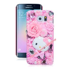 New Hot Cute Hello Kitty Case Crystal Plastic Case For Samsung Galaxy edge Phone Cases Accessories Protector edge Case Phone Cases Samsung Galaxy, Glitter Phone Cases, Hard Phone Cases, Cute Phone Cases, Hello Kitty Merchandise, Animal Phone Cases, Galaxy Note 4 Case, Cute Cases, Galaxies