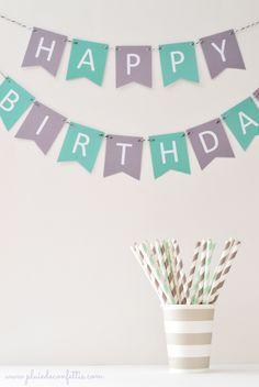 guirnaldas imprimibles Happy Birthday