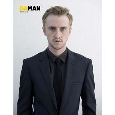 New Tom Felton Da Man magazine outtakes; Rupert Grint at Las Vegas... ❤ liked on Polyvore featuring tom felton and harry potter