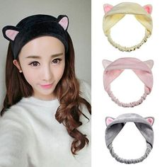 Cheap hairband headband, Buy Quality hair accessories directly from China headband party Suppliers: Hot Sale Cat Ear Hair Head Band Hairbands Headbands Party Gift Headdress Headwear Ornament Trinket Hair Accessories Makeup Tools Kawaii Hairstyles, Headband Hairstyles, Visual Kei, Girl And Cat, Head Band, Creepy, Cat Ears Headband, Ear Hair, Hair Hoops