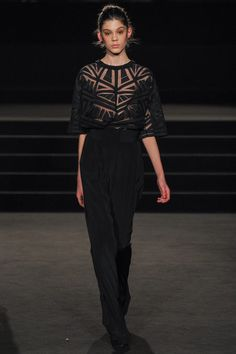 See-through black trouser suit by Sass & Bide | Fall 2013 Ready-to-Wear Collection | Style.com