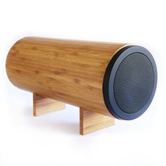 Wooden Speaker (gadgets, ideas, inventions, cool, fun, amazing, new, interesting, product, design, clever, practical, useful, tech, technology, electronic, gizmo, sound, music, hi-fi)