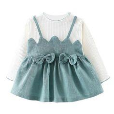 Long Sleeve Zig Zag and Bows Dress