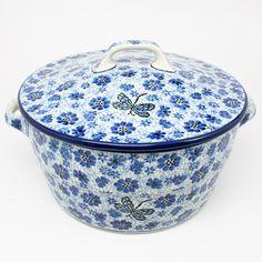 polish-pottery-covered-casserole-#1443