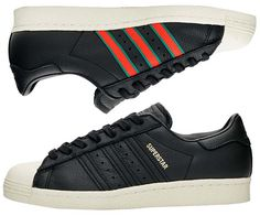 adidas Originals SUPERSTAR 80s [CORE BLACK / GREEN / RED] cq2656
