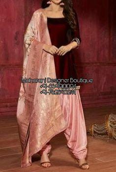 Buy Punjabi Suits New Design online latest styles trending in 2020 - A wide range of Punjabi including patiala salwar kameez at Maharani Designer Boutique 👉 CALL US : + 91 - 01094 or Whatsapp D Punjabi Suit Boutique, Punjabi Suits Designer Boutique, Boutique Suits, Patiala Salwar, Designer Punjabi Suits Patiala, Salwar Suit With Price, Salwar Suits Simple, Amritsar, Chandigarh