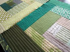Love this straight line quilting [by Rachel]! Would be nice for an ipad case.