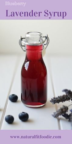 Blueberry Lavender Syrup - Natural Fit Foodie