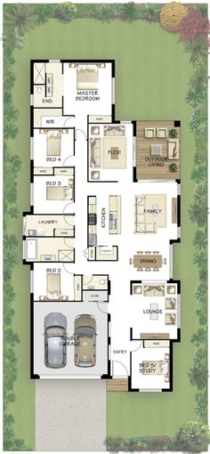 Like this a lot---except want living area facing front of house. Coral Homes :: Noosa Series features