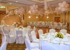 Balloons can be used to transform simple halls as well as grand ballrooms to match a color scheme or theme to make your vision a reality.