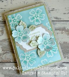 Birthday Blossoms by Stampin' Up! www.juliesjapes.blogspot.com #stampinup #birthdayblossoms #birthdaycard