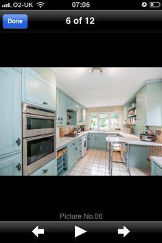 Coloured kitchen units