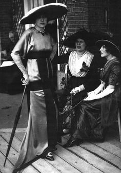 ∴ Trios ∴ the three graces & groups of 3 in art and photos - Edwardian Fashionistas, 1910s