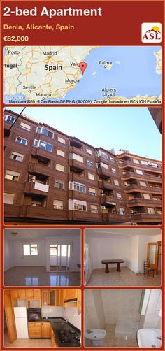 Apartment for Sale in Denia, Spain with 2 bedrooms - A Spanish Life Closed Kitchen, Alicante Spain, Murcia, Flats For Sale, Apartments For Sale, Seville, Malaga, Flooring, Bedroom