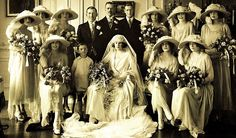 The wedding of Almina's son, the 6th Earl of Carnarvon, in 1922. The 5th Earl and Almina had two children: Henry George Herbert, 6th Earl of Carnarvon (1898|1987) married Anne Catherine Tredick Wendell (d.1977) and had one son, the 7th. Earl and a daughter.  They divorced in 1936 and from 1939 to 1947, he was married to actress/dancer Tilly Losch. Lady Evelyn Leonora Almina Herbert (15 August 1901 – 1980) married Sir Brograve Beauchamp, 2nd Baronet and had issue.