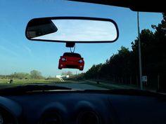 Handmade MX-5 NB-FL plush car air freshener.