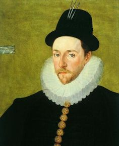 A detail of a portrait of Peregrine Bertie, circa 1588-90. Peregrine was the son of Katherine Willoughby d'Eresby and her second husband, Richard Bertie.