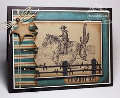 Inspired by the Wild Wild Western Sentiments; Fishtail Banner Die-nmaics; Barbed Wire Fence Die-namics; Mini Tabs Foursome Die-namics; Country Charms Die-namics - Jodi Collins