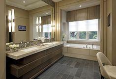 : Awesome Bathroom Contemporary Bathroom Design Interior Completed With Modern Bathroom Vanities Furniture Used Wooden Material Dorm Bathroom, Beige Bathroom, Bathroom Sink Vanity, Bathroom Flooring, Bathroom Interior, Bathroom Ideas, Bathroom Makeovers, Master Bathroom, Bathroom Inspiration