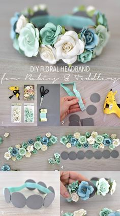 baby hair accessories DIY Floral Headband for Babies and Toddlers theStyleSafari baby clothes baby girl baby headbands baby room baby stuff Diy Baby Headbands, Floral Headbands, Baby Bows, Handmade Headbands, Headbands For Girls, Baby Headband Tutorial, Tulle Headband, Felt Headband, Hair Bow Tutorial