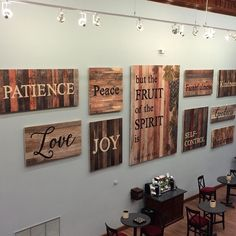 """""""But the fruit of the Spirit is love joy peace longsuffering gentleness goodness faith meekness temperance: against such there is no law."""" -Galatians 5:22-23. How about this for inspirational wall art! #inspirational #home #pgrahamdunn"""