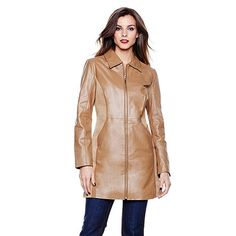 IMAN Platinum Rock the Runway Leather & Suede Car Coat black or red Designer Leather Jackets, Shopping Places, Qvc, Runway, My Style, Coat, Black, Fashion, Cat Walk
