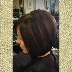 A beautiful cinnamon colored highlight on a rich and shiny chocolate brown base! Hair by M Brown Hair With Highlights, Colored Highlights, Partial Highlights, Caramel Highlights, Layered Bob Hairstyles, Winter Hairstyles, Cinnamon Hair Colors, Gorgeous Hair, Beautiful
