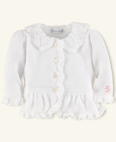 Ralph Lauren Baby Sweater, Baby Girls Preppy Cardigan - Kids Newborn Shop - Macy's
