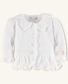 Ralph Lauren Baby Sweater, Baby Girls Preppy Cardigan - Kids Newborn Shop - Macy's