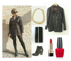 """""""oversize jacket"""" by shirlygold on Polyvore featuring Dolce&Gabbana and OPI"""