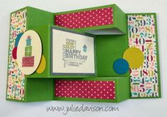 Julie's Stamping Spot -- Stampin' Up! Project Ideas Posted Daily: Wishing You Tri-Shutter Cards for Christmas & Birthday