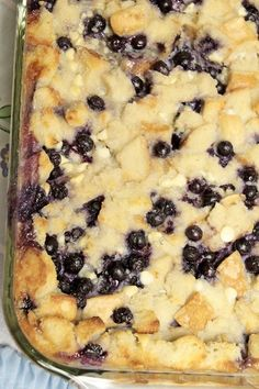 Blueberry bread pudding