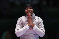 Ibtihaj Muhammad: Muhammad became the first Muslim-American woman to win a medal in the Olympics while wearing a hijab. Muhammad won the bronze in the team saber. The Rio Games also saw the Egyptian beach volleyball team in full hijab.