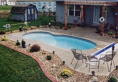 Swimming pool builders can help you from beginning to finish during the building procedure. It's a fact that inground pools can be immensely costly and are normally in the backyard of a big a pricey residence. It's exciting to have your own pool. Inground Pool Designs, Backyard Pool Designs, Small Backyard Pools, Small Pools, Swimming Pools Backyard, Backyard Patio, Backyard Landscaping, Small Backyards, Landscaping Ideas