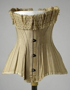 Corset Date: ca. 1907 Culture: American Medium: cotton Accession Number: C.I.42.87.2