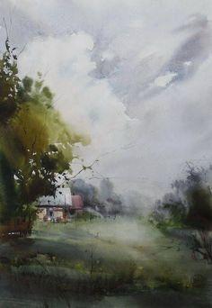 By Ilya Ibryaev (Ибряев Илья), from Moscow (b. 1955)  watercolor; 53 x 35 cm