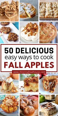 Apple Dessert Recipes, Fall Desserts, Fruit Recipes, Apple Recipes, Fall Recipes, Sweet Recipes, Holiday Recipes, Delicious Desserts, Healthy Cooking