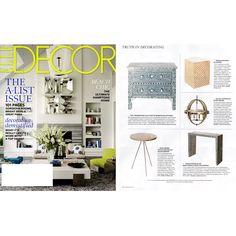 Regina Andrew Bone Veneer Tripod Side Table @Zinc_Door as seen in @ELLE DECOR #zincdoor #sidetable #elledecor #press