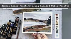 Loose Abstract Acrylic Landscape Painting Tutorial. Click link to watch!