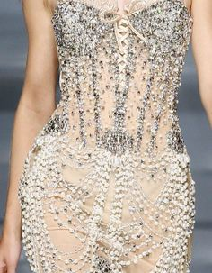   couture,embroidery,details︱Discover more at Paperonfire :