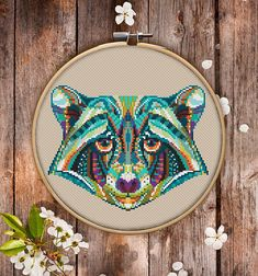 "This is modern cross-stitch pattern of Mandala Raccoon for instant download. You will get 7-pages PDF file, which includes: - main picture for your reference; - colorful scheme for cross-stitch; - list of DMC thread colors (instruction and key section 6x7.5"" £3.61"