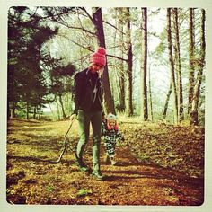 Lou Teasdale and Baby Lux (Tom Atkin 's instagram)