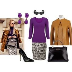 """""""Purple Sweater"""" by gailschurman on Polyvore"""