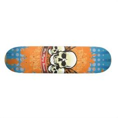 products on Zazzle Skateboards For Sale, Skulls, Grunge, Cool Designs, Gifts, Blue, Stuff To Buy, Presents, Favors