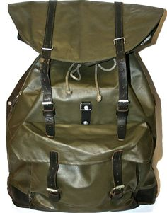 Vintage Czech waterproof backpack,
