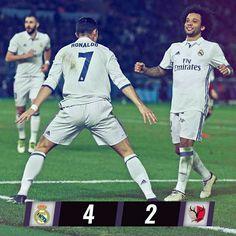 🙌 CHAMPIONS! / ¡CAMPEONES! 🙌 Real Madrid 4-2 Kashima Antlers ⚽ 9' @karimbenzema ⚽ 44' Shibasaki ⚽ 52' Shibasaki ⚽ 60' @cristiano (p) ⚽ 97' @cristiano ⚽ 104' @cristiano #RMCWC #HalaMadrid