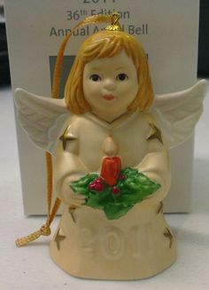 Goebel | 2011 36th Edition Annual Angel Bell *BRAND NEW IN BOX* GOLD