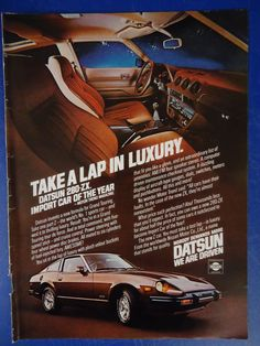 Datsun Original Magazine Print Ad by DigIntoThePast on Etsy Classic Japanese Cars, Classic Cars, Retro Cars, Vintage Cars, Rich Cars, Nissan Z Cars, Nissan Xterra, Car Brochure, Nissan Infiniti